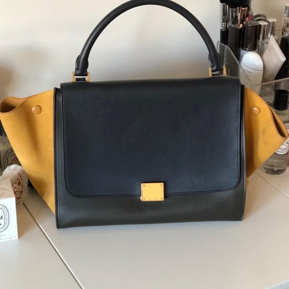 Celine Bags   Cline Medium Trapeze Bag Tri Color   Poshmark 7b92fb8f27